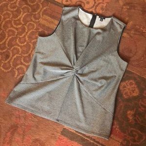 Sleeveless Knotted Blouse